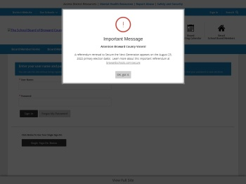 Enter your user name and password to sign in. - Broward ...