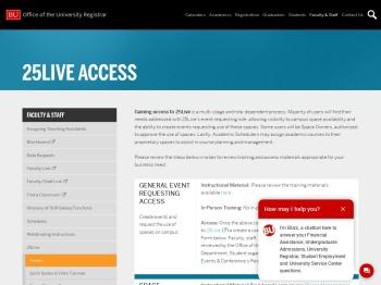 25Live Access | Office of the University Registrar