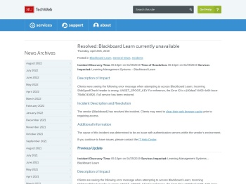 Resolved: Blackboard Learn currently unavailable - Boston ...
