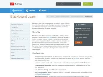 Blackboard Learn : TechWeb - Boston University