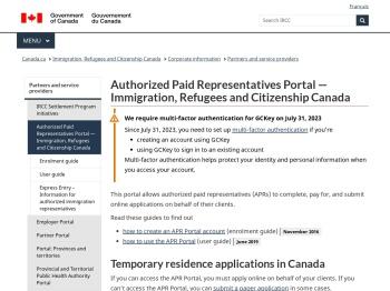 Authorized Paid Representatives Portal — Immigration ...
