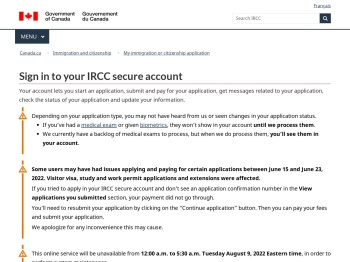 Sign in to your IRCC secure account - Canada.ca