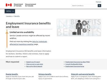 Employment Insurance benefits - Canada.ca