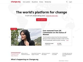 Change.org · The world's platform for change