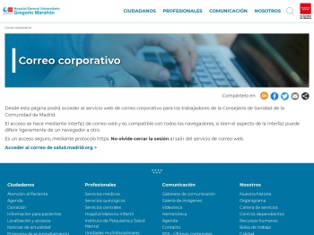 Correo corporativo - Comunidad de Madrid