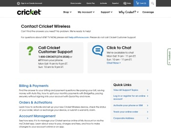 Contact Us Today | Cricket Wireless