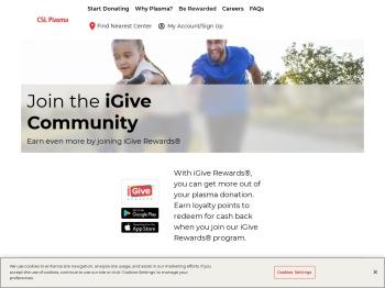 iGive Rewards - CSL Plasma
