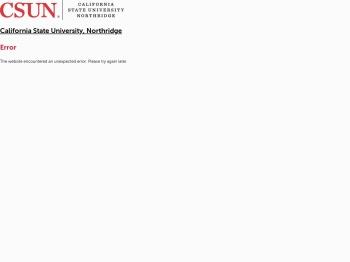 myNorthridge Portal   California State University, Northridge