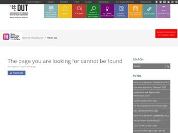 Student Portal DUT4Life Email E-learning - Durban University ...
