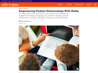 Screenshot of Empowering Student Relationships with Media