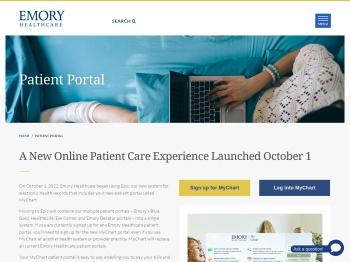 Emory Healthcare Patient Portal - Atlanta, GA - Emory ...