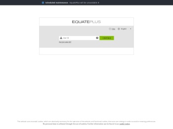 EquatePlus Login User ID