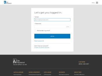 Login - Erie Insurance