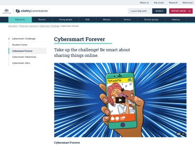 Screenshot of Cybersmart Forever