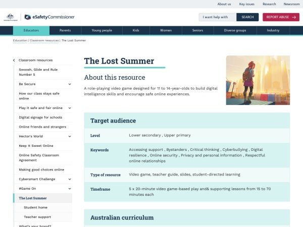 Screenshot of The Lost Summer