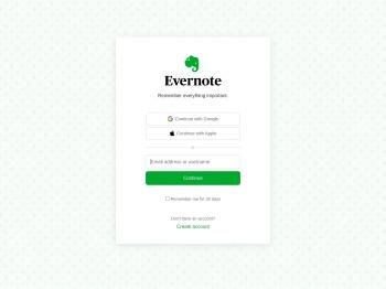 Evernote Login
