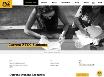Current FTCC Students - Fayetteville Technical Community ...