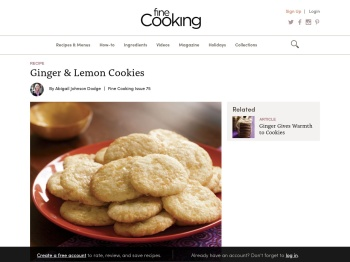 Ginger & Lemon Cookies - Recipe - FineCooking
