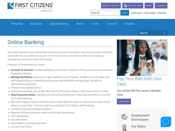 Online Banking › First Citizens' Federal Credit Union