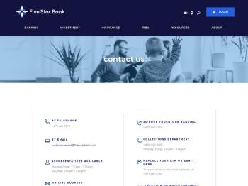 Contact Us › Five Star Bank