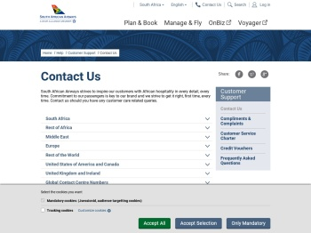 Contact Us - South African Airways