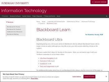 Blackboard - Fordham University