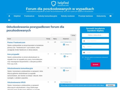 Odszkodowania powypadkowe forum dla poszkodowanych