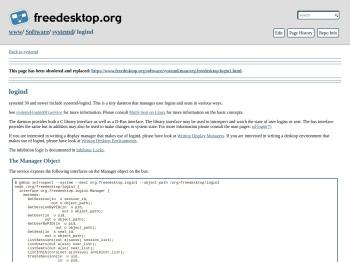 logind - Freedesktop.org