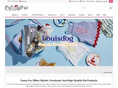 screenshot of Funny Fur Pet Supplies's homepage