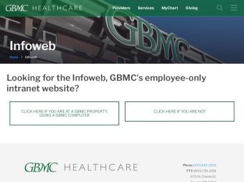 Infoweb - GBMC HealthCare in Baltimore, MD