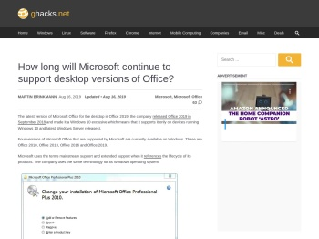 How long will Microsoft continue to support desktop versions ...
