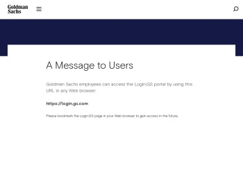 Employee Login - Goldman Sachs