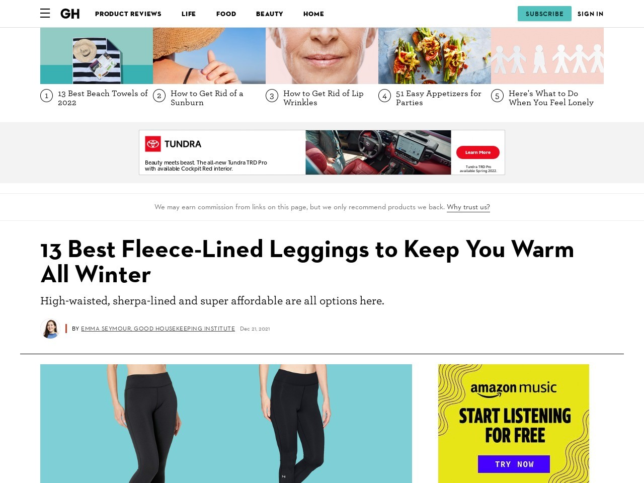 Fleece Leggings Plus Size