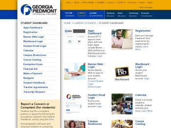 Student Dashboard – Georgia Piedmont Technical College