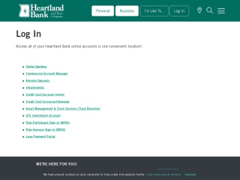 Log In | Heartland Bank and Trust Company