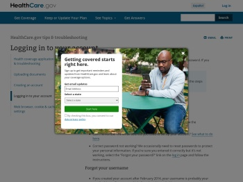 How to log in to your Marketplace account| HealthCare.gov