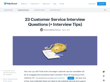 23 Customer Service Interview Questions (+ Interview Tips)
