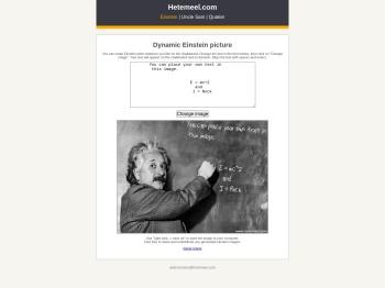 Dynamic Einstein chalkboard image - Hetemeel.com