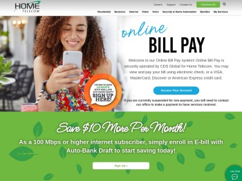 View and Pay Your Bill Online | Home Telecom SC