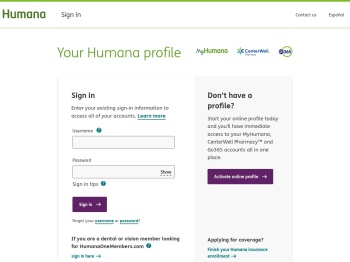 Sign In | Humana