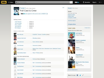 Portal 2 (Video Game 2011) - Full Cast & Crew - IMDb
