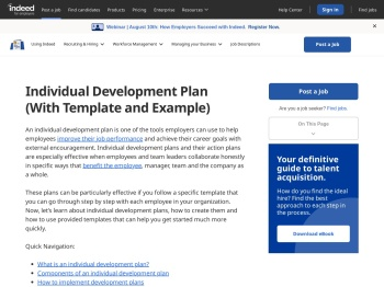 Individual Development Plan Examples: Templates to Use