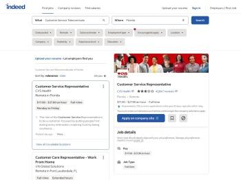 Customer Service Telecommute jobs in Florida - Indeed