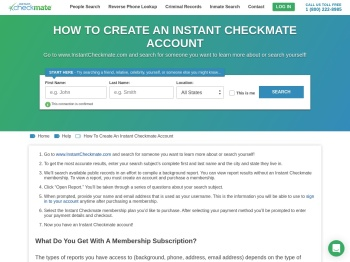 How to log in to your Account - Instant Checkmate Login