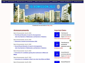 revised date for isi admission test 2020
