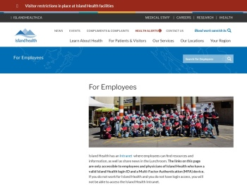 For Employees | Island Health