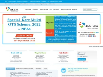 Welcome to Official Website of Jammu and Kashmir Bank
