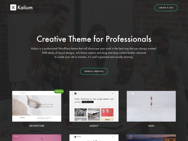 Kalium - Creative Theme for Professionals Screenshots