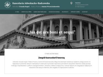 Kancelaria Adwokacko-Radcowska. Adwokat Urszula Kopeć, Radca Prawny Joanna Wrzec