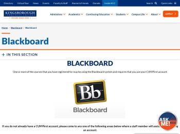 Blackboard - Kingsborough Community College - CUNY